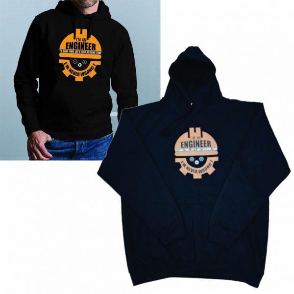 Engineer print hoodie